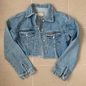 Vintage paco rabanne cropped denim jacket